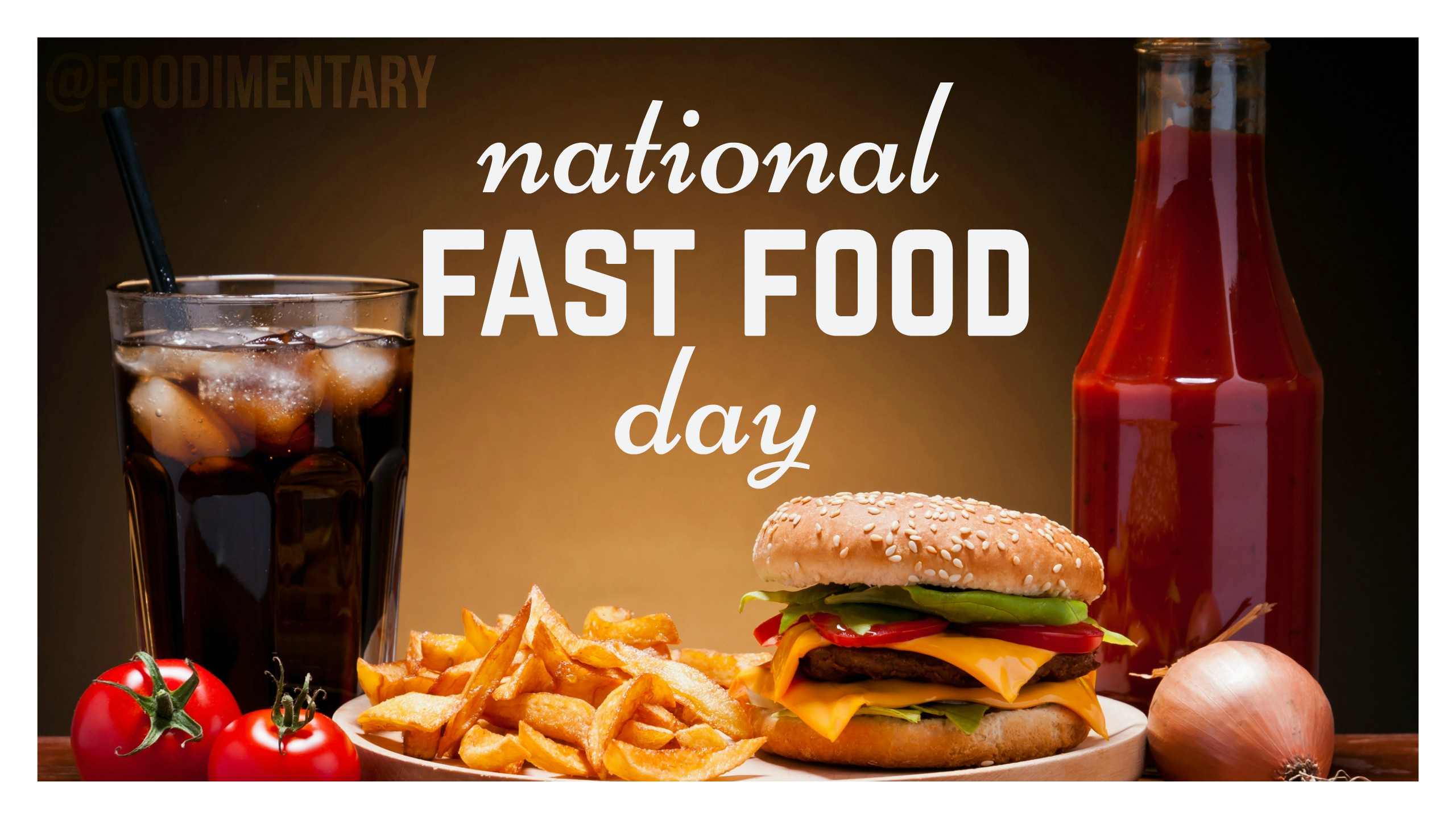 November 16th is National Fast Food Day Foodimentary   National 2560x1440