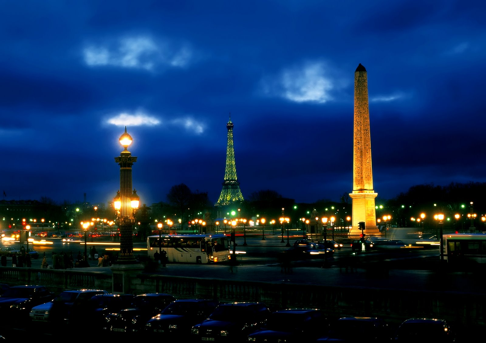 Paris Paris at Night Wallpaper 1600x1131