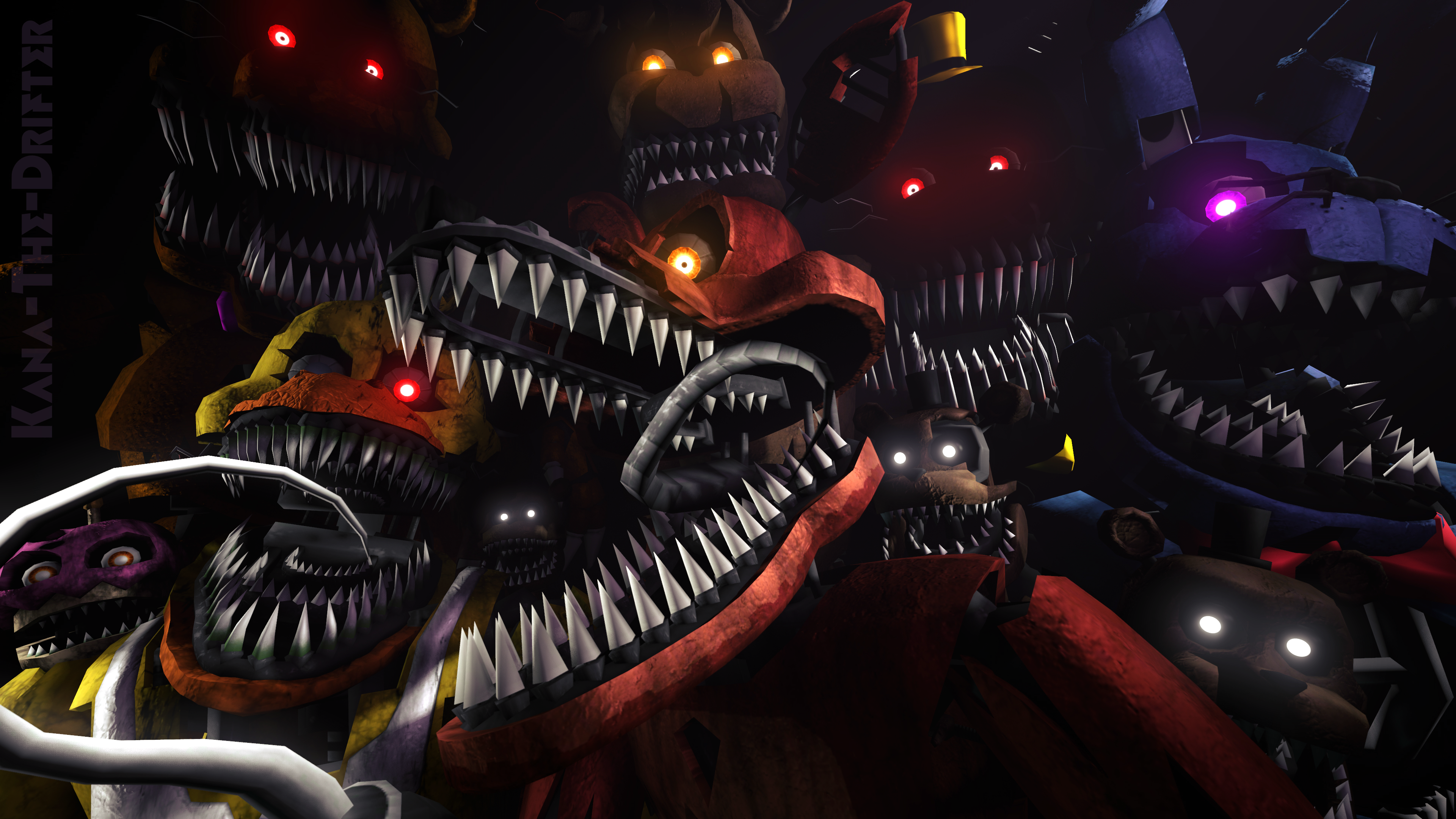 Well Stay Here Forever FNAF SFM Wallpaper by Kana The Drifter on 3840x2160
