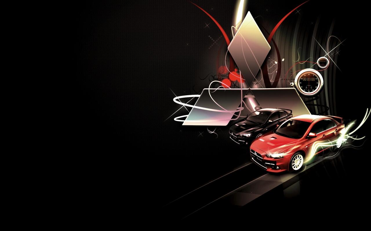Cars Wallpapers Mitsubishi Mitsubishi lancer evolution logo 1280x800