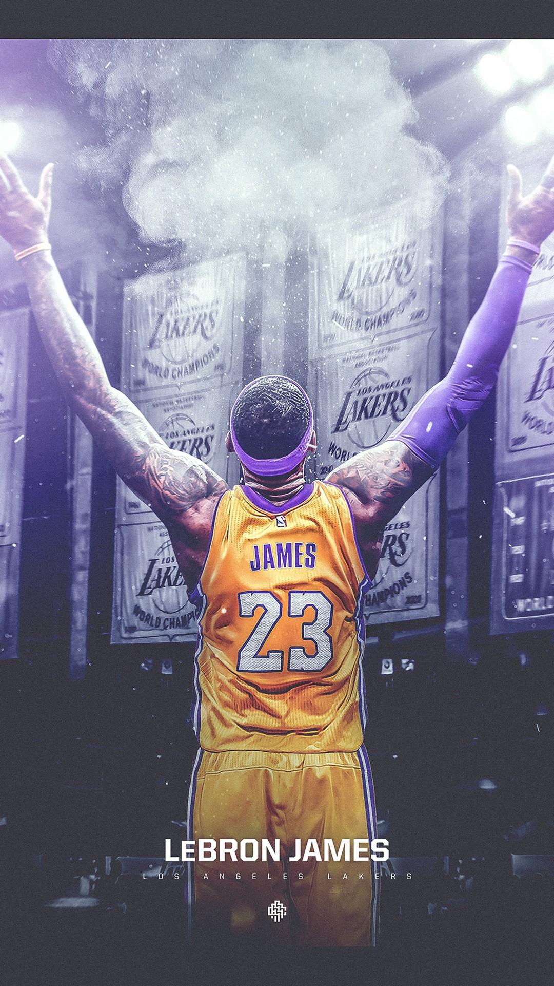 LeBron James LA Lakers HD Wallpaper For iPhone 2020 Basketball 1080x1920