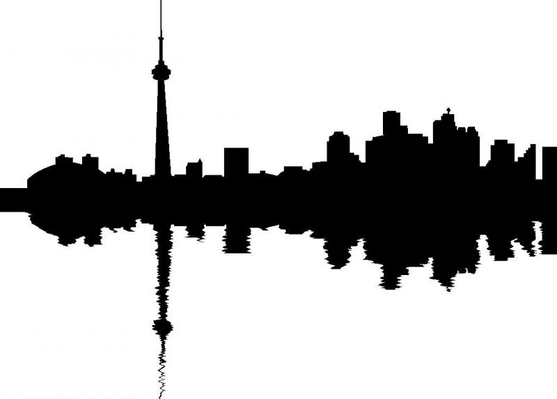 toronto skyline wall sticker by WallStickers choice 800x573
