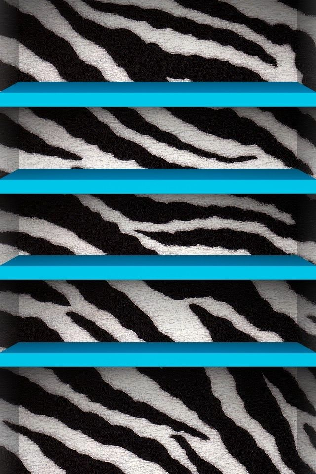 Blue Zebra Background iPod BackgroundsWallpapersFacebook Banners 640x960
