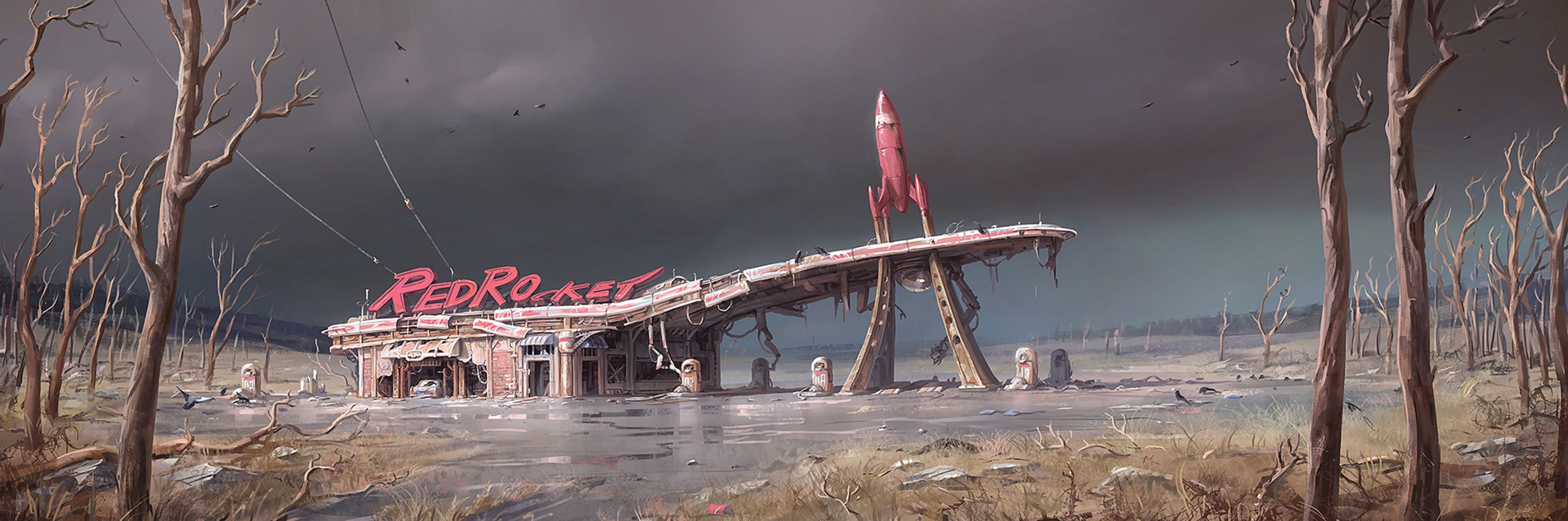 Fallout 4s concept art is wallpaper worthy Polygon 3000x996