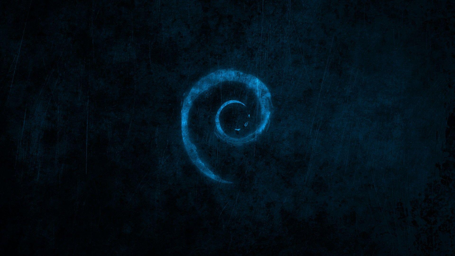 Water Blue Dark Linux Debian Brands Logos New HD Wallpaper 1920x1080