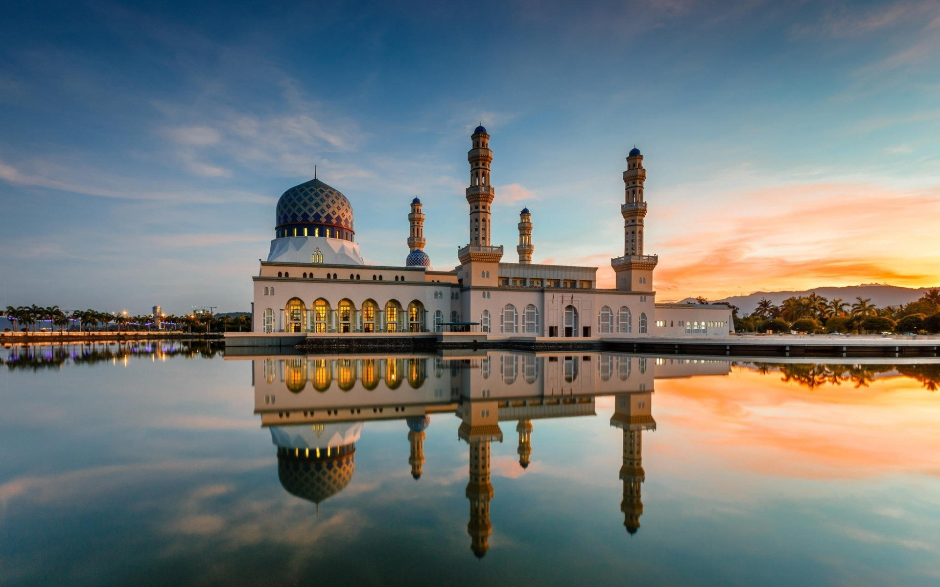 1 Kota Kinabalu City Mosque HD Wallpapers Background Images 1920x1200