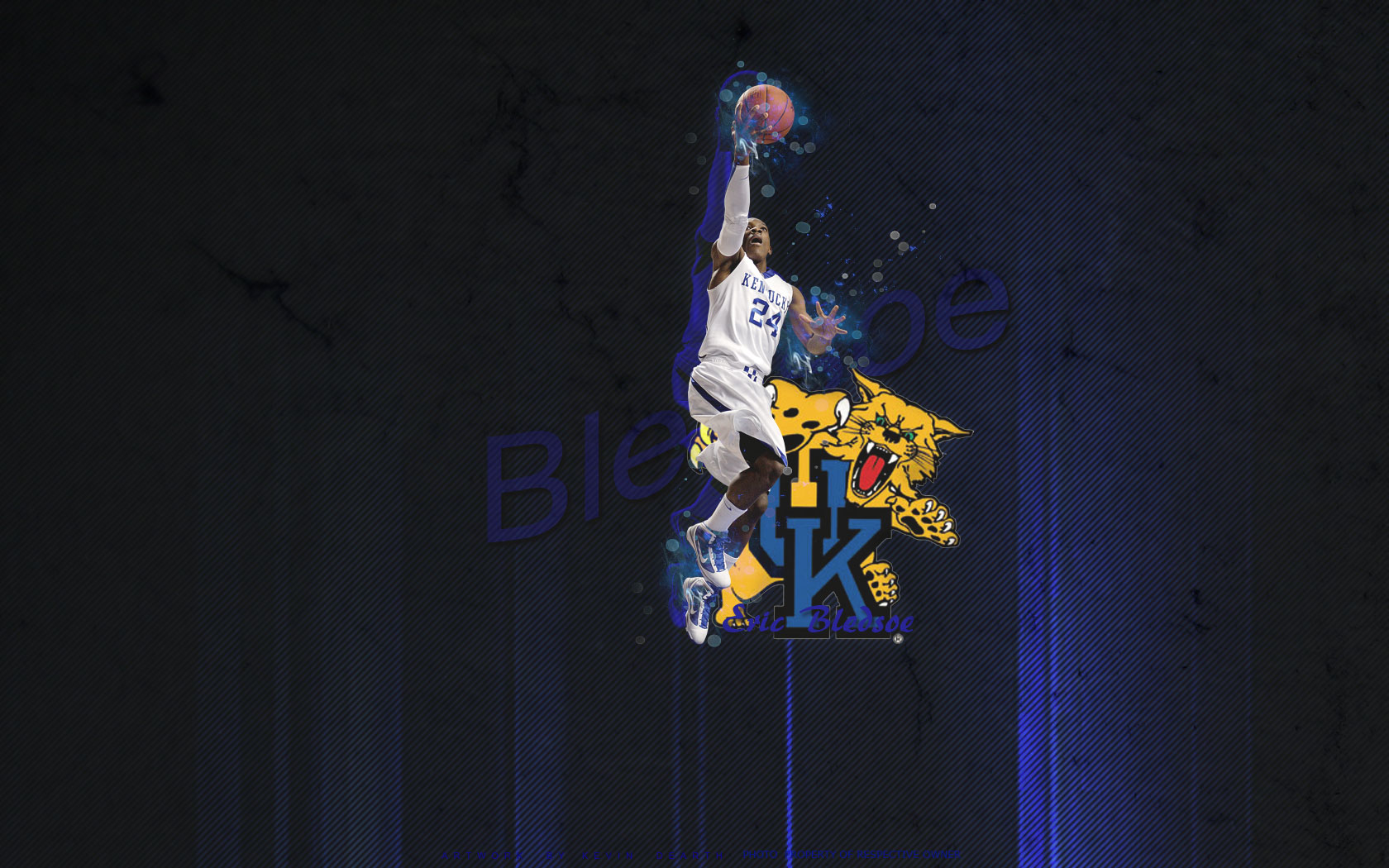 eric bledsoe kentucky wildcats widescreen photo 1680x1050