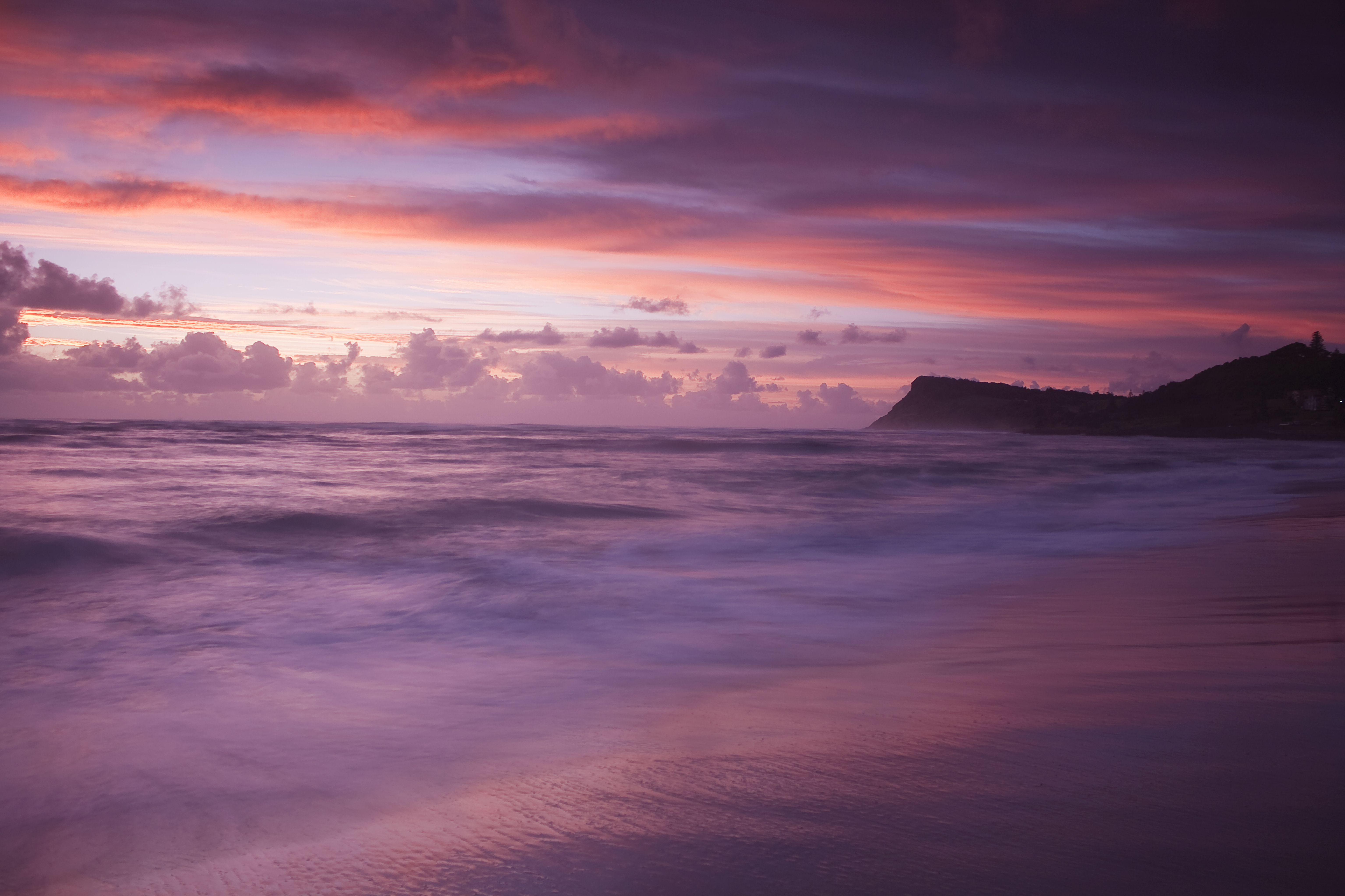 Pink And Purple Sunset Images TheCelebrityPix 6144x4096