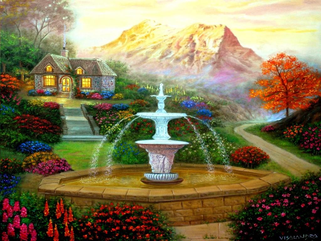 Garden Wallpapers Hd   3d Garden Wallpaper Hd 118975   HD 1024x768