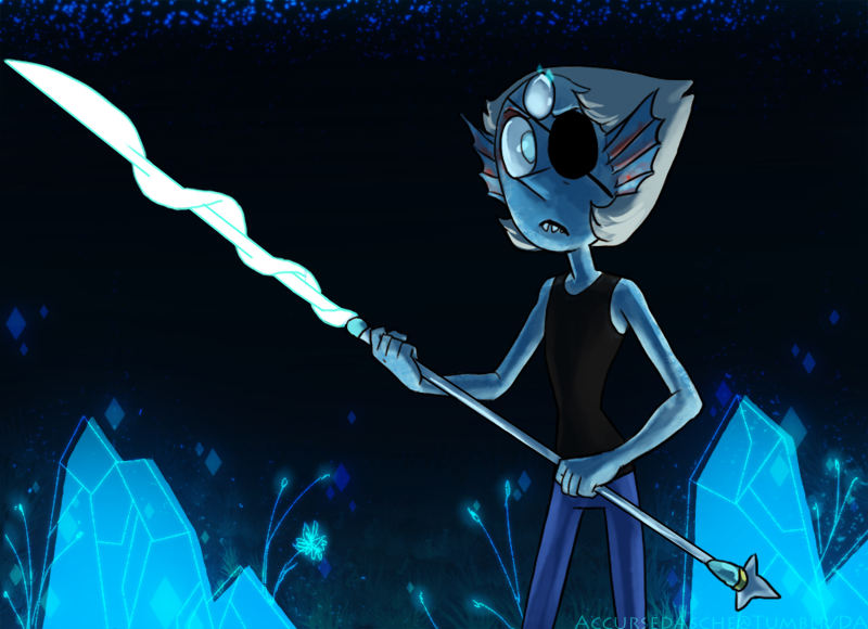 Pearl as Undyne   SUUT crossover with BG by AccursedAsche on 800x580