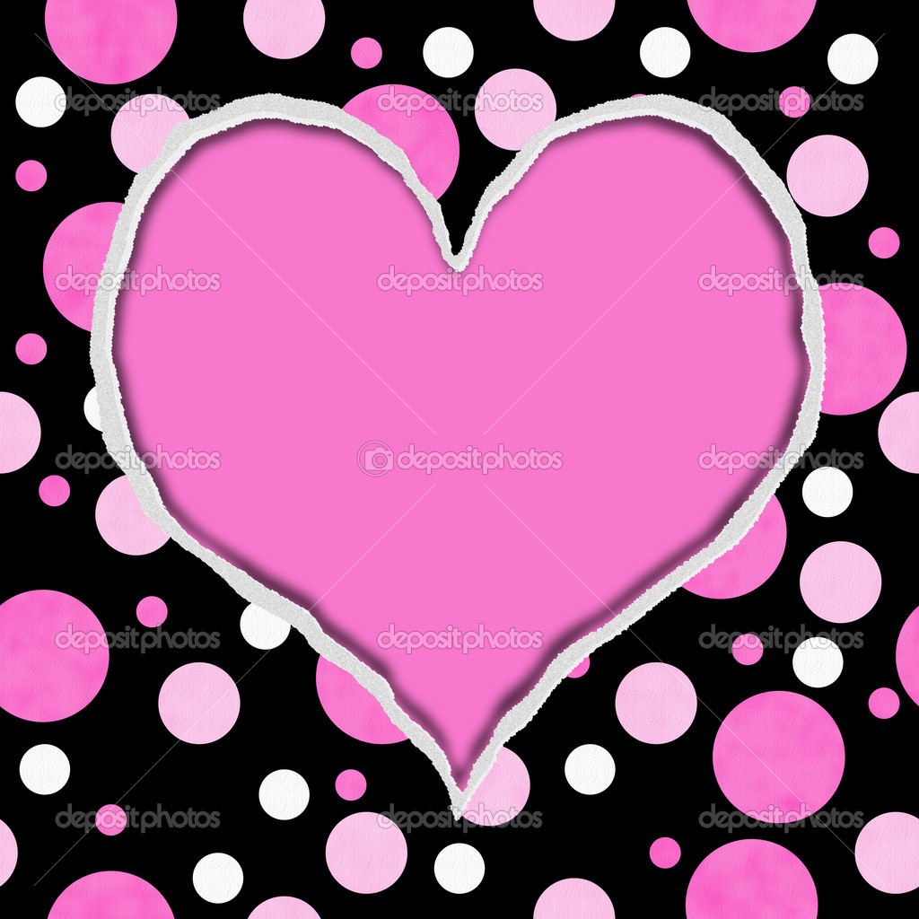 depositphotos 21299529 Pink and Black Polka Dot Torn Background for 1024x1024