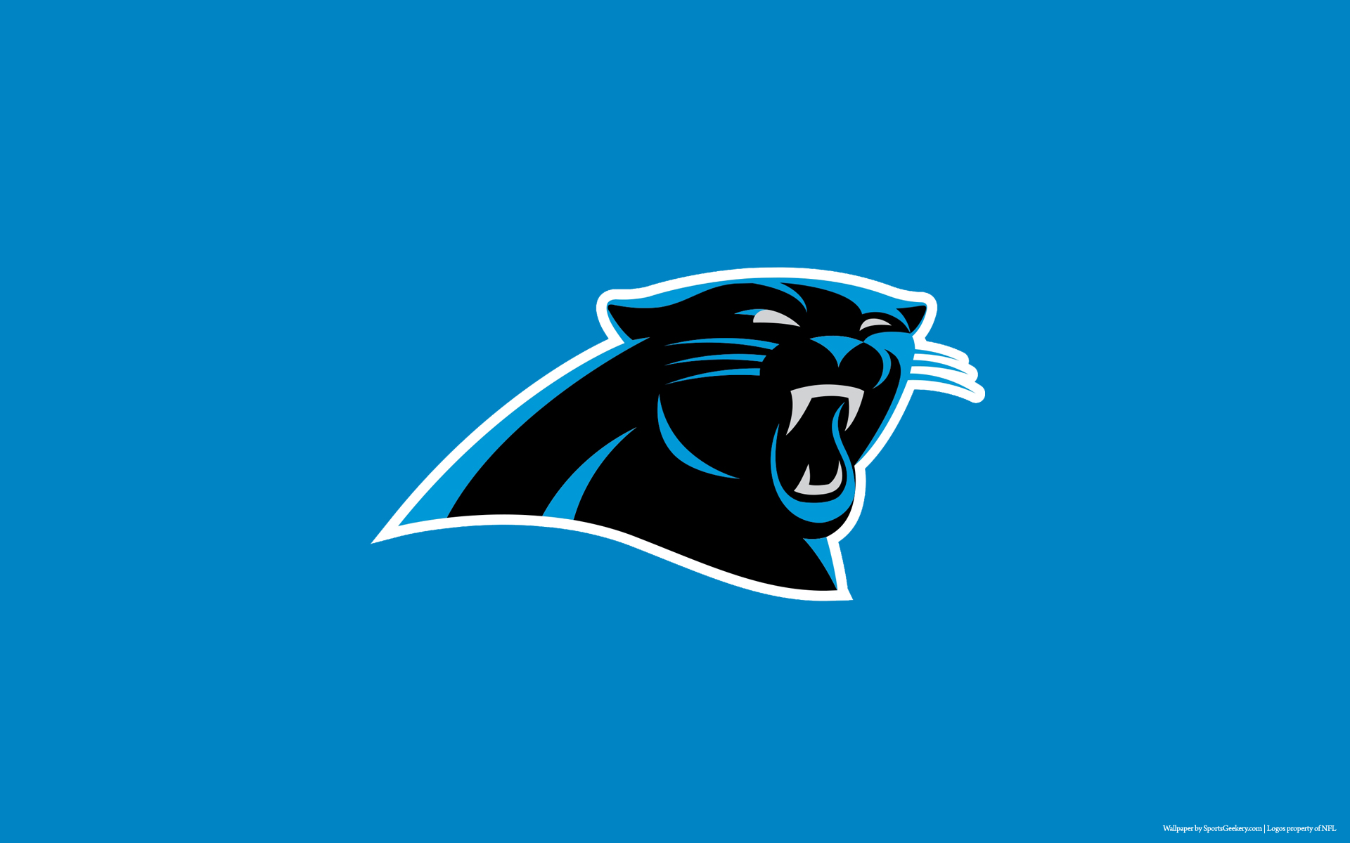 Carolina Panthers Blue Wallpaper for Phones and Tablets 1920x1200