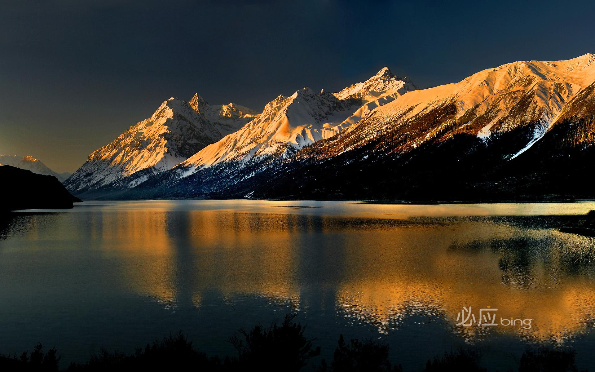 Ranwu Lake in Tibet HQ Wallpapers 1920x1200
