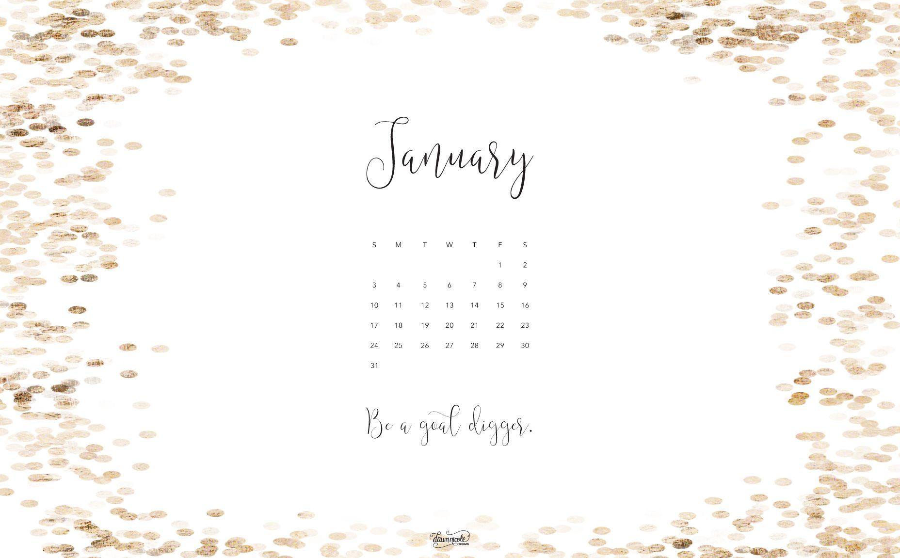 Desktop Wallpapers Calendar January 2017 1856x1151