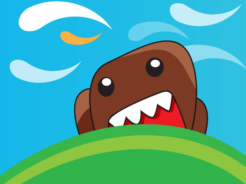 Cute Domo Wallpaper Domo kun cute monster   vector 800x600