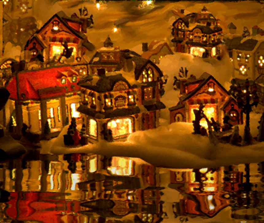 Christmas Village Background Image Wallpaper or Texture for any 860x726