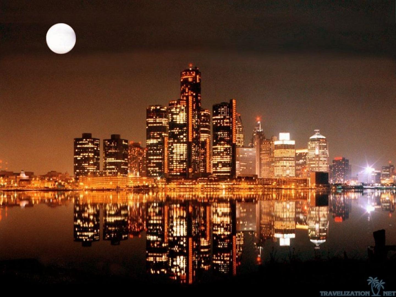 Download Desktop Wallpapers Detroit Cities At Night Wallpapers 1440x1080