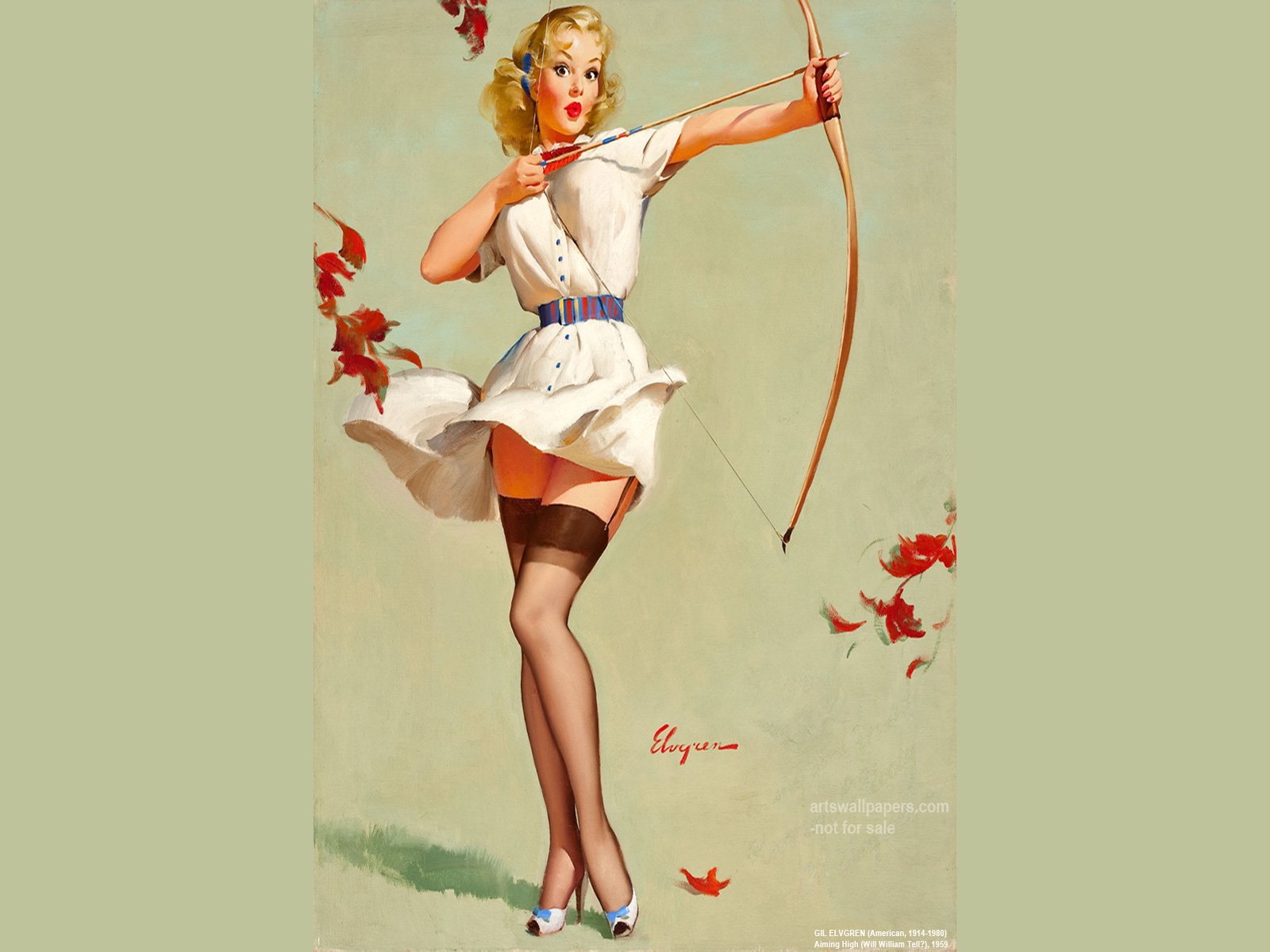 Free Download Pin Up Girl Wallpaper Poster Desktop Art Paintings