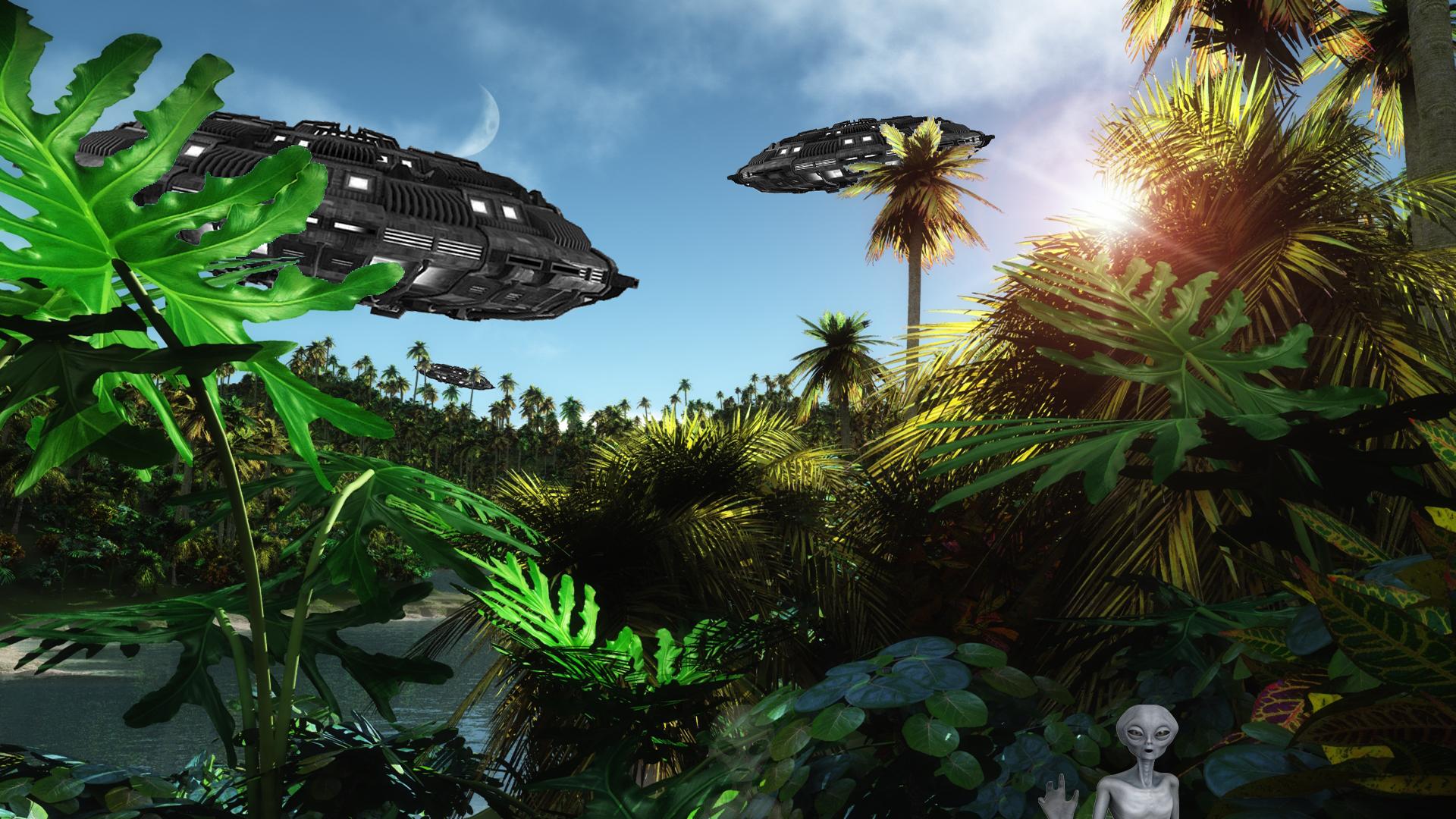 Galleryland Full HD UFO WallpaperAmazon Alien UFOspng 1920x1080