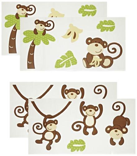 Source URL httpwwwsquidoocomnursery wall decals monkeys 441x500