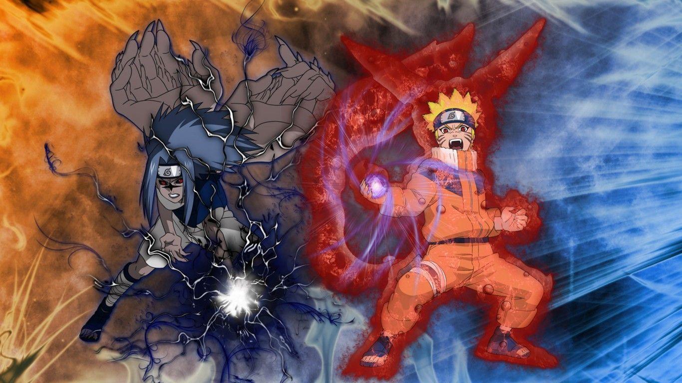 Free Download Naruto Vs Sasuke Wallpapers 1366x768 For Your