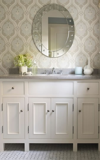 Kelsey M Design Wallpaper Wednesday  Bathrooms 338x537