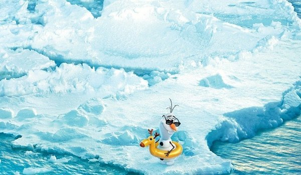 Frozen Disney Olaf Wallpaper Get ready to swim with olaf 600x350