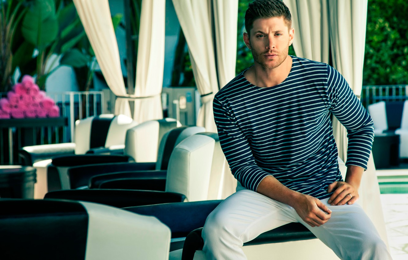 Wallpaper photoshoot Jensen Ackles Harpers Bazaar images for 1332x850