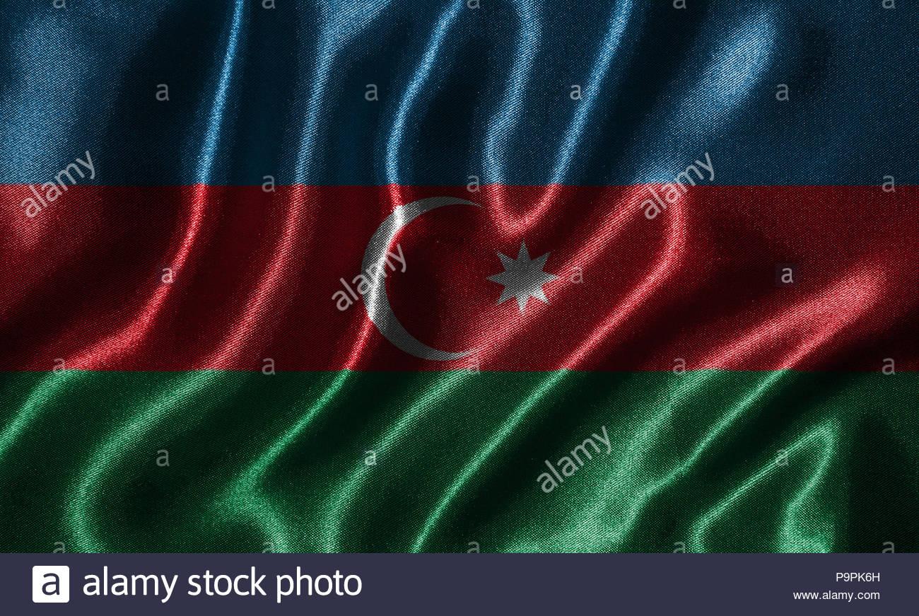 Azerbaijan flag   Fabric flag of Azerbaijan country Background 1300x871