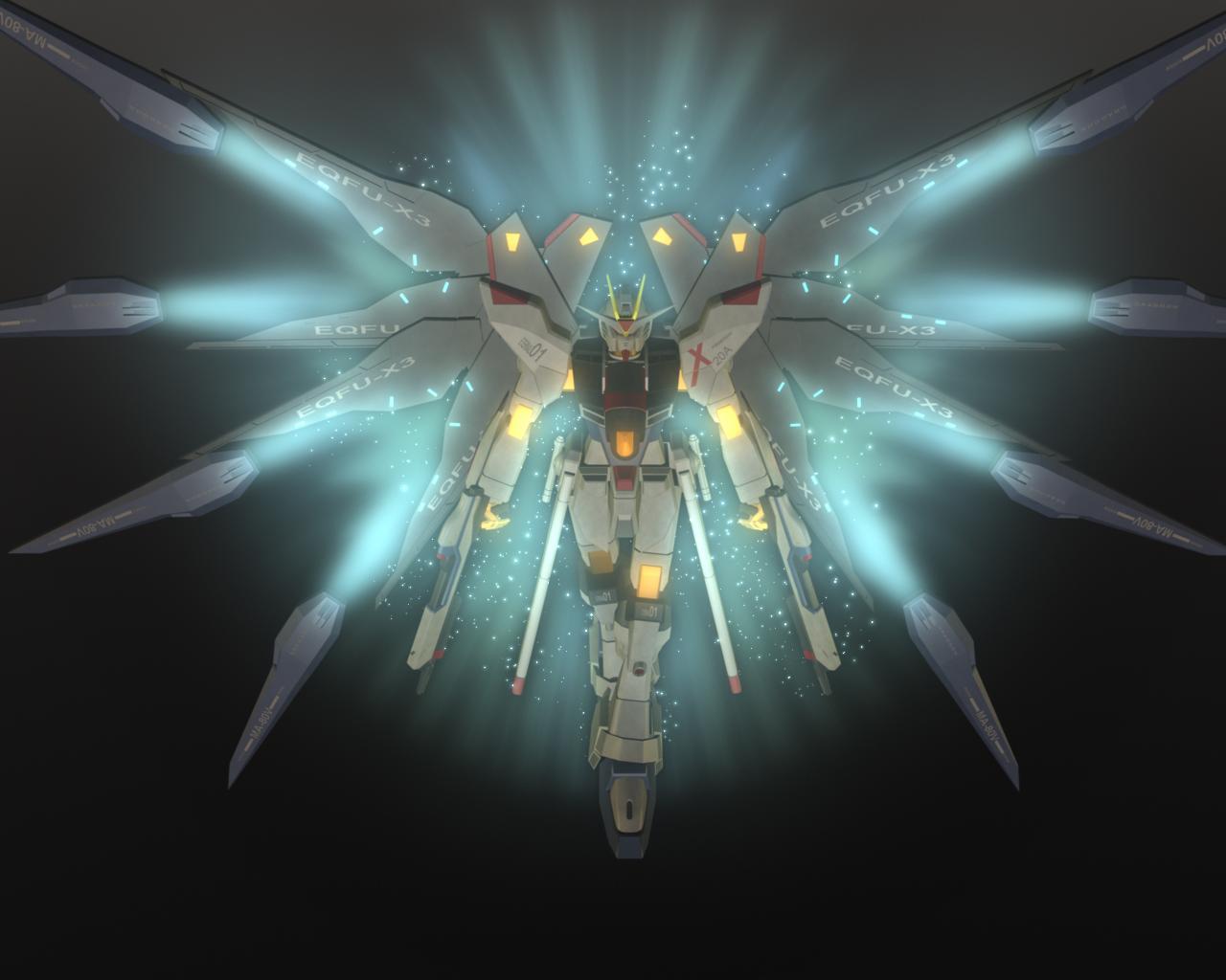 salah satu Gundam Favorit saya yaitu ZGMF X20A Strike Freedom Gundam 1280x1024