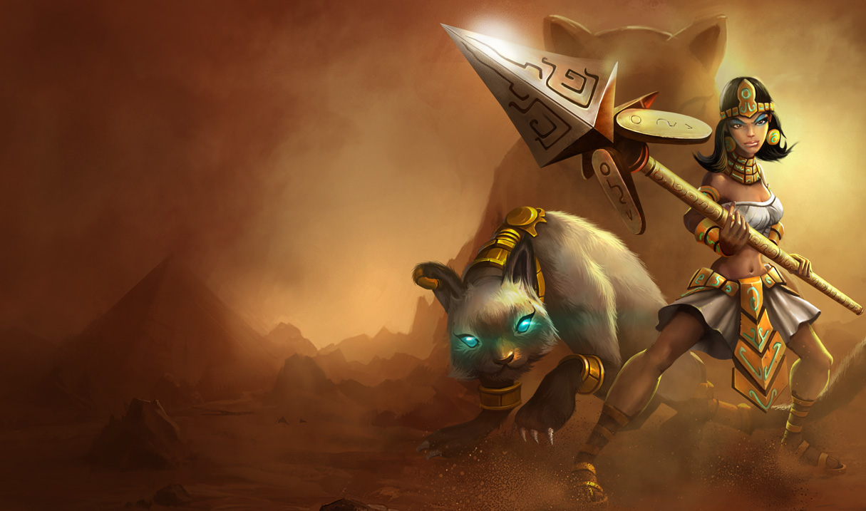 League of Legends Wallpaper Nidalee   The Bestial Huntress 1215x717