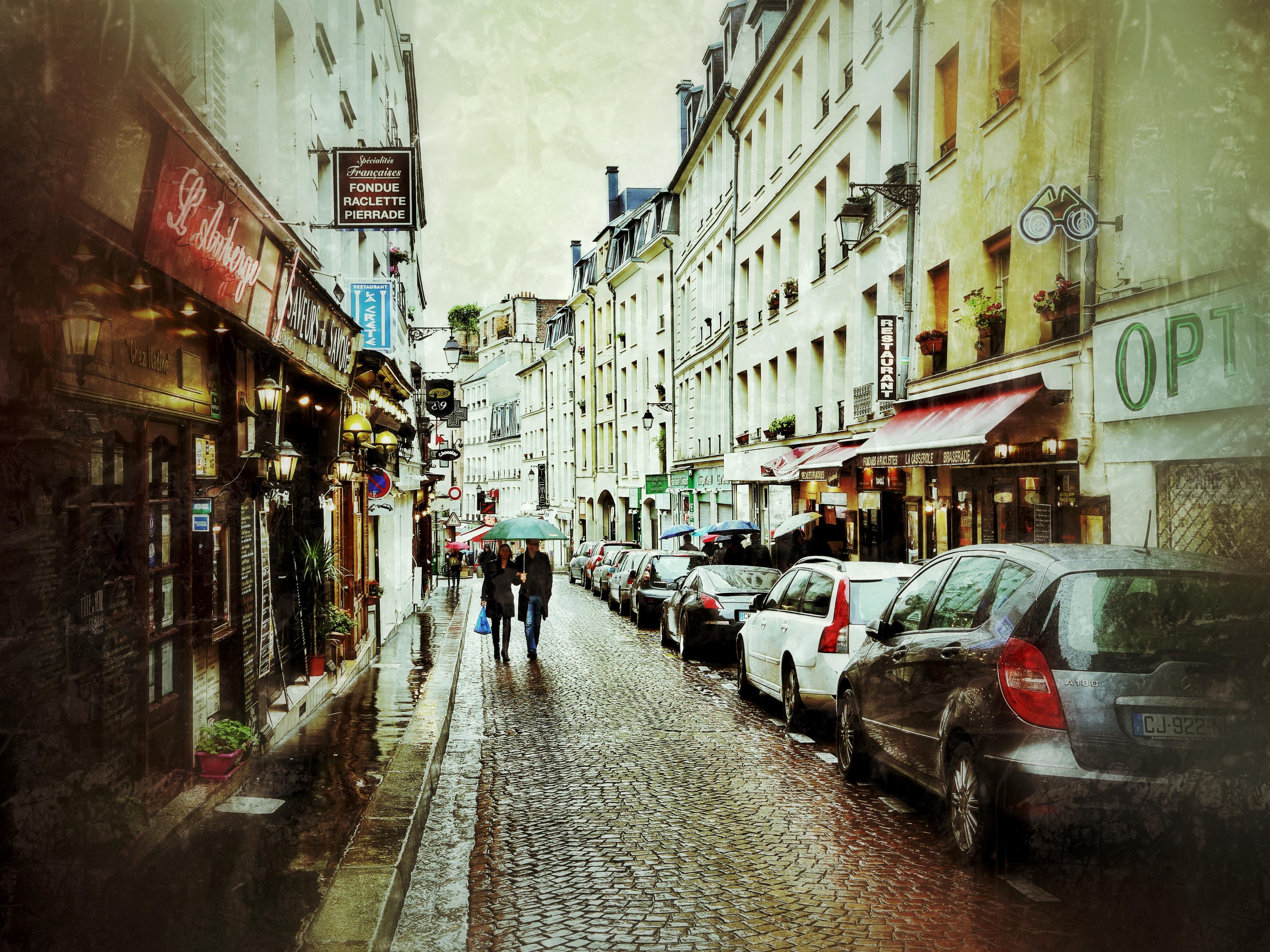 Paris Street Cafe Wallpaper Streets of paris 4027x3020