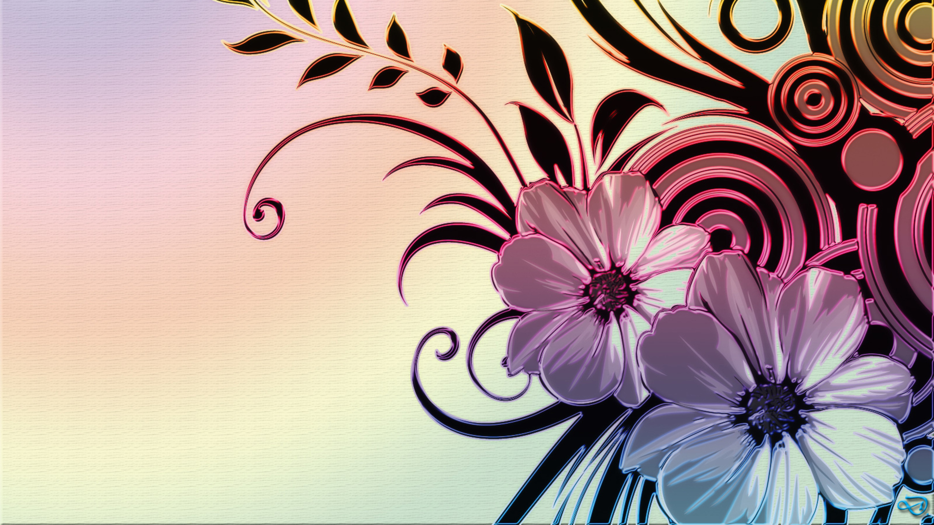 Flower wallpaper designs Download 3d HD colour design 1920x1080