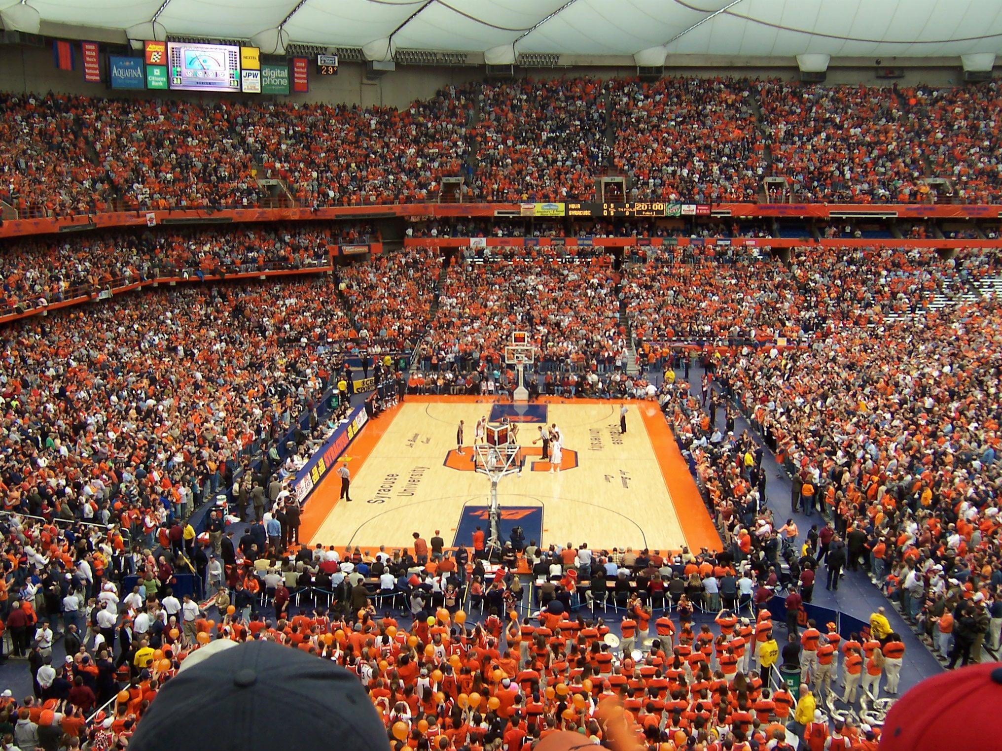 Santuarios del deporte Carrier Dome Syracuse Nueva York La cancha 2032x1524