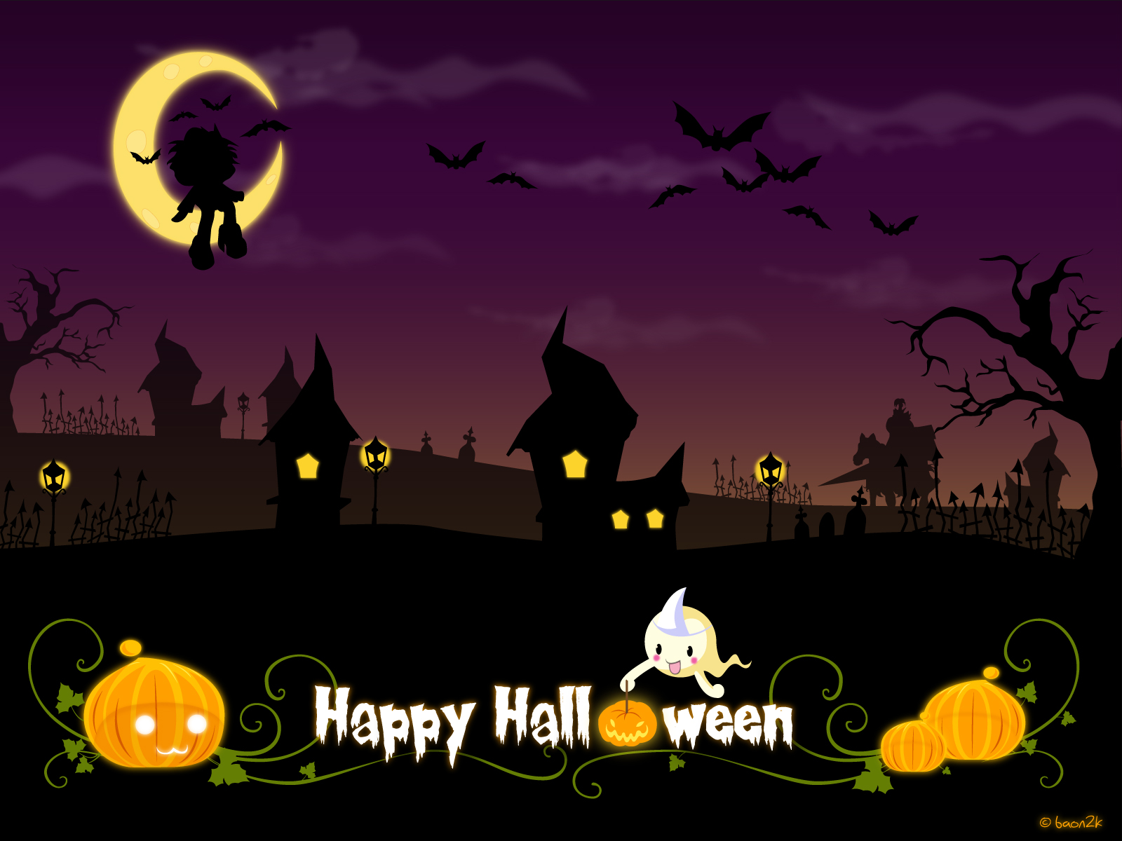 60 cute Halloween wallpapers HQ   Garmahis Design Magazine 1600x1200