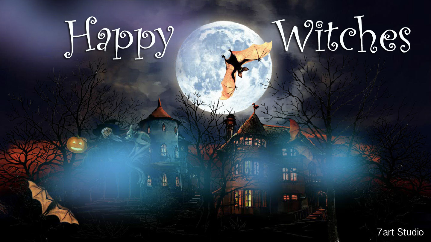 7art Happy Witches screensaver and live animated wallpaper for Windows 1440x810