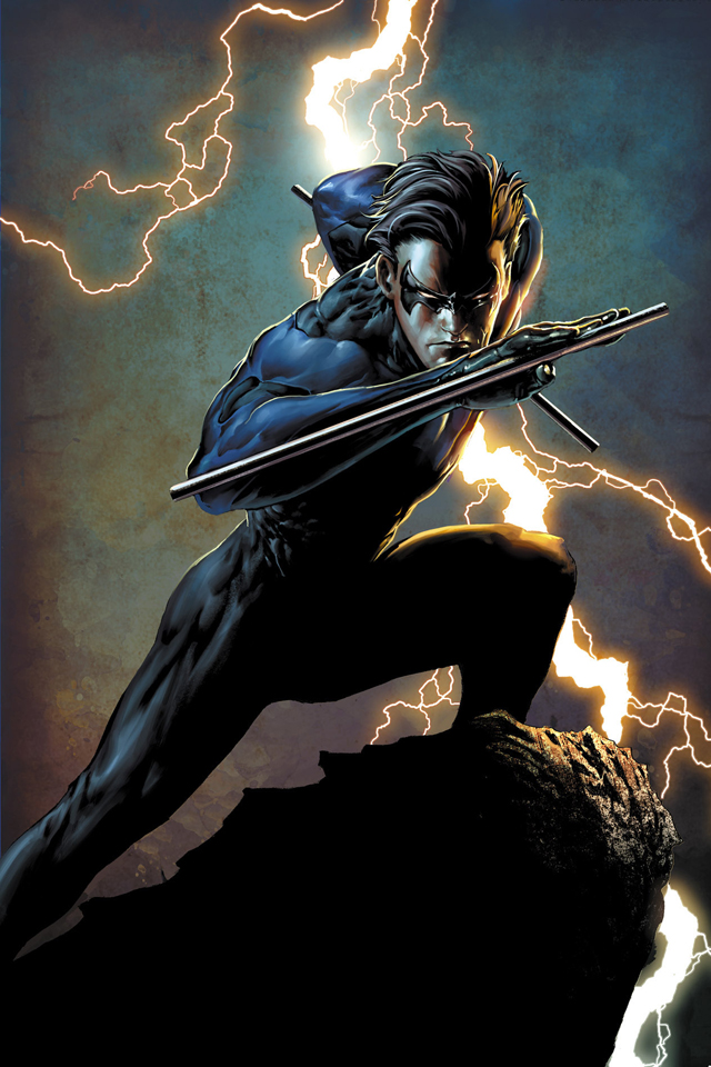 Download for iPhone cartoons wallpaper Nightwing I4 640x960
