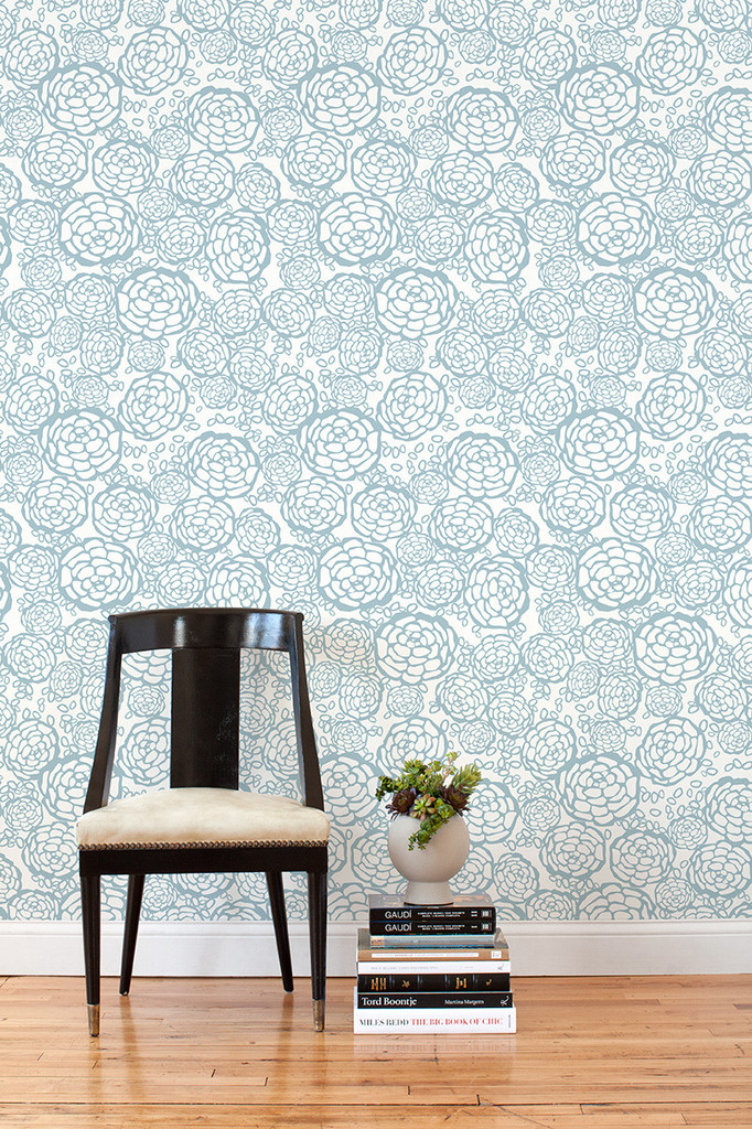 ... wallpaper tiles, so you could put them up easily. Wouldn't these look
