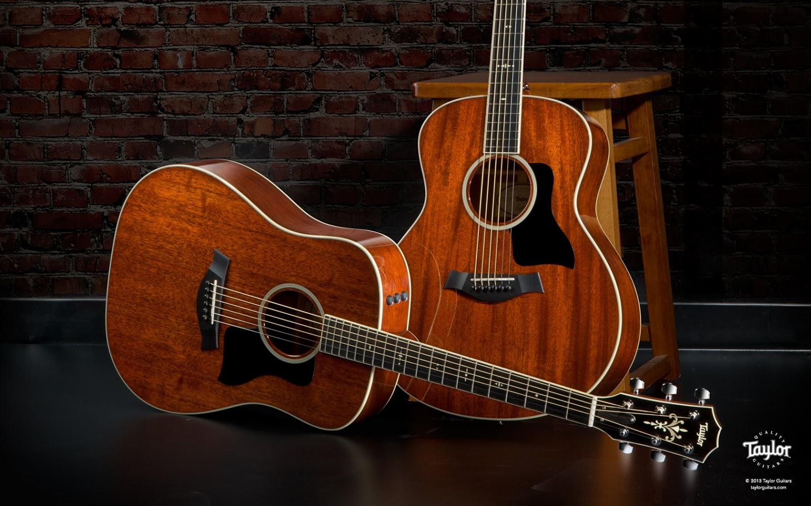Taylor Guitar Background Wallpaper