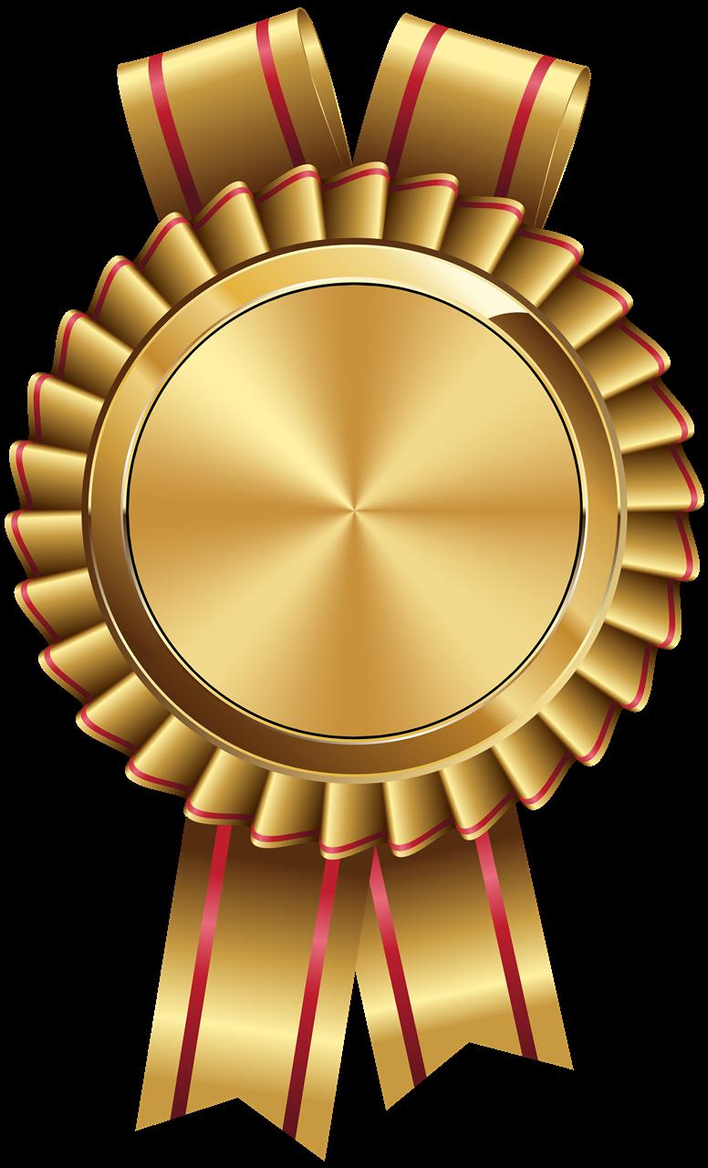 Golden Badge Transparent Background PNG PNG Arts 776x1280