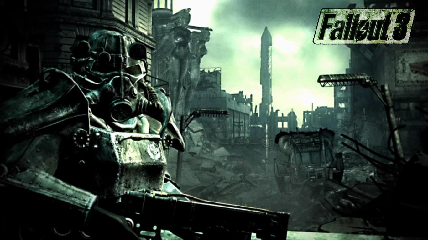 Fallout 3 Soldier 1366x768 wallpaper 1366x768