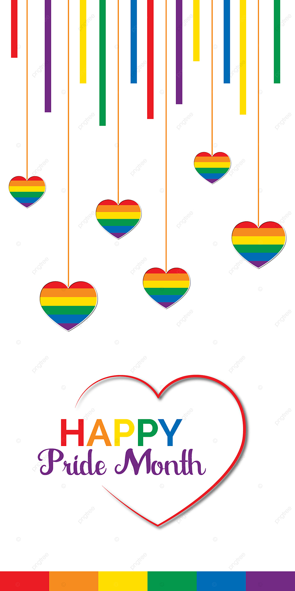 Happy Pride Month Wallpaper Design With Love Rainbow Design Gay 960x1920