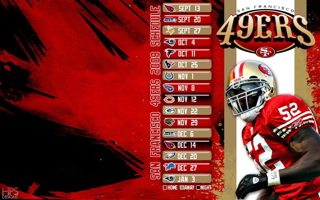 2009 49ers schedule wallpaper HPS by hps209 1024x640