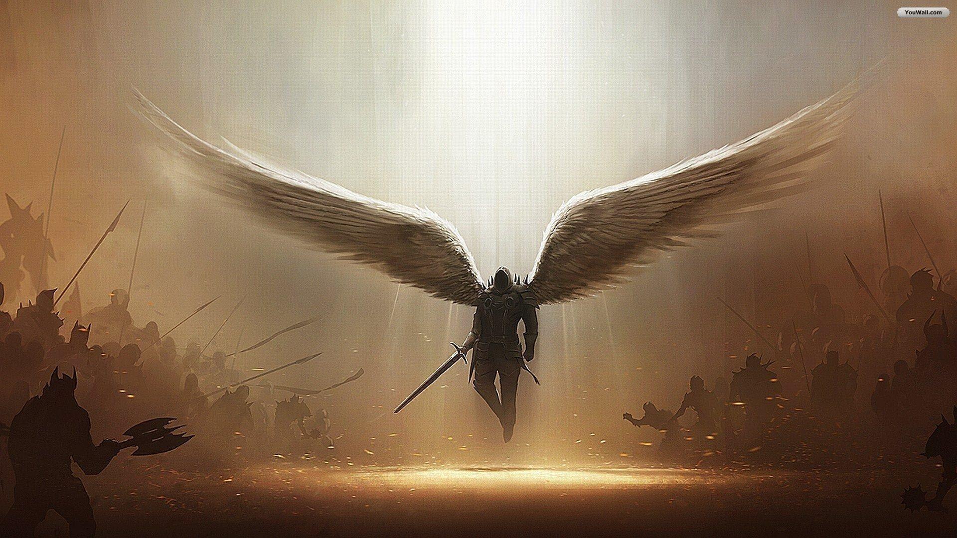 YouWall   Angel of War Wallpaper   wallpaperwallpapersfree wallpaper 1920x1080