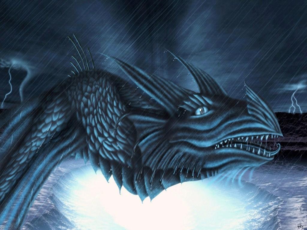 cartoon picture Ice Dragon Wallpaper 1024x768