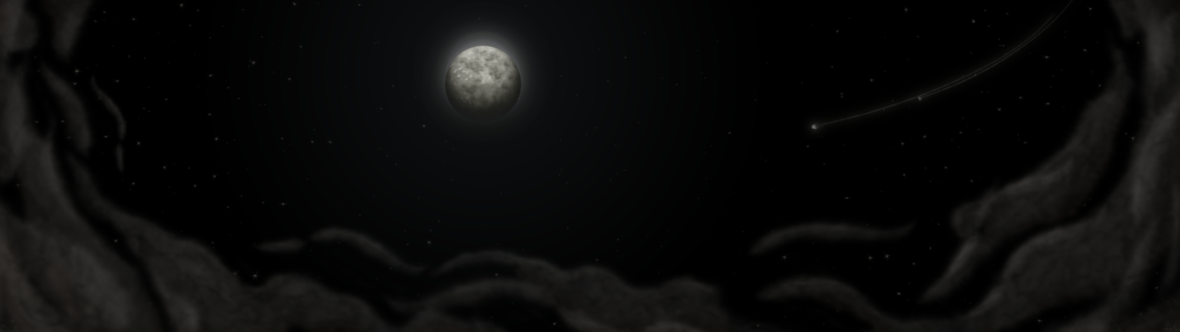 Moonlight [Dual 4K and 1080p 169 Wallpaper] by ComikzInk on 1685x474
