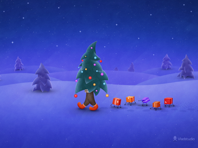 Animated Christmas Wallpaper For Mac Images Pictures   Becuo 640x481