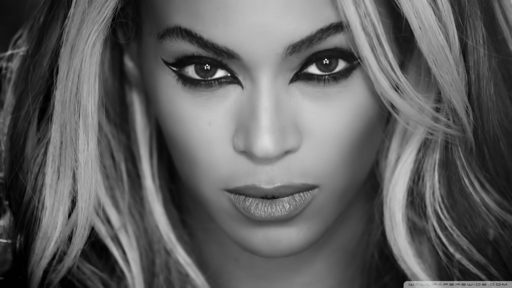Beyonce Superpower Black and White 4K HD Desktop Wallpaper 1024x576