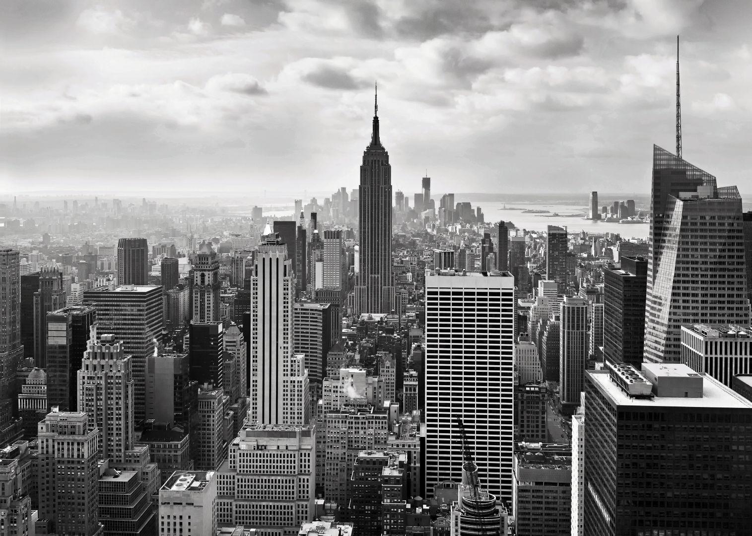 Wall Mural NEW YORK CITY BLACK WHITE photo wallpaper 368x254cm wall 1515x1080
