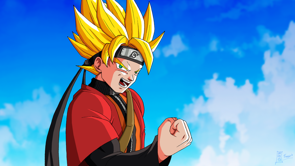 Naruto outfit Son Goku DBZ Battle of Z by Nostal 1024x576